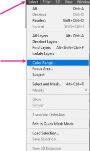 گزینه color range