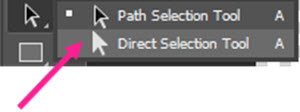 ابزارdirect selection tool