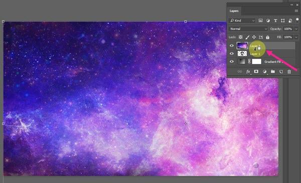 لایه کهکشانی در پنل لایه ها