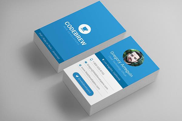 چهره در طراحی کارت ویزیت