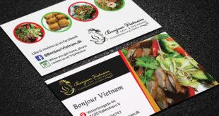 نمونه کارت ویزیت رستوران
