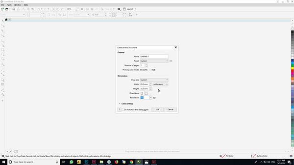 باز کردن فایل جدید در کورل - آموزش طراحی کارت ویزیت در کورل
