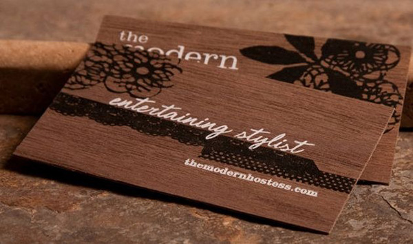 نمونه کارت ویزیت از جنس چوب